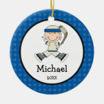 Hockey Boy Blonde Kids Personalised Christmas