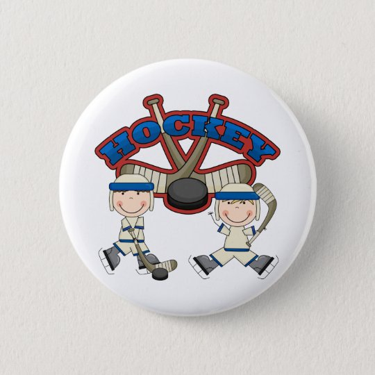 Hockey Boys 6 Cm Round Badge