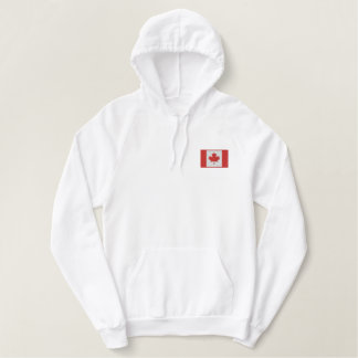 Hockey  Canada with Flag Canadian Sports Embroidered Hoodie