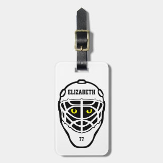 Hockey Cat Eyes Helmet Luggage Tag