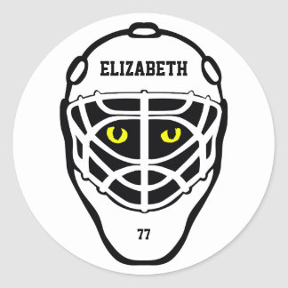 Hockey Cat Eyes Helmet Sticker