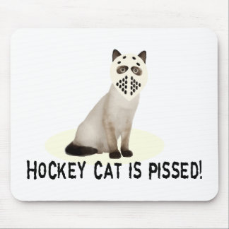 Hockey Cat Pissed Mouse Mat
