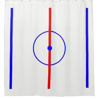 Hockey Centre Ice & Blue Lines Shower Curtain
