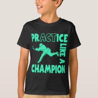 Hockey Champion, aqua T-Shirt