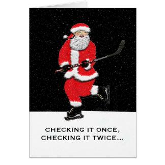 hockey Christmas cards