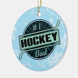 Hockey Christmas Ornament, #1 Hockey Dad