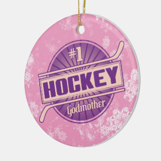 Hockey Christmas Ornament, Hockey Godmother Christmas Ornament
