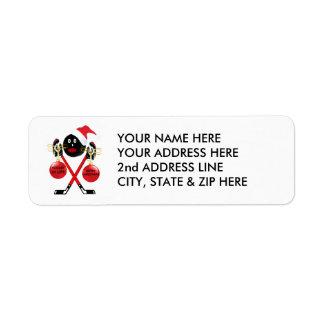 Hockey Christmas Return Address Label