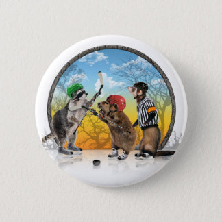 Hockey Critter Classic Button