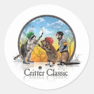 Hockey Critter Classic Classic Round Sticker