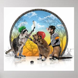 Hockey Critter Classic Print