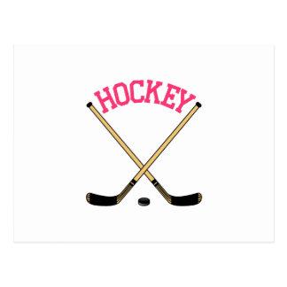 Hockey Cross Sticks Postcard