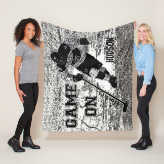 Hockey Customizable Fleece Blanket