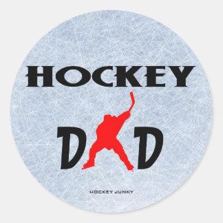 HOCKEY DAD ROUND STICKERS