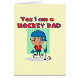 Hockey Dad T-shirts and Gifts Greeting Card
