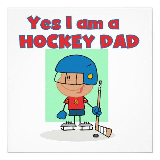 Hockey Dad T-shirts and Gifts Custom Invites