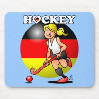 Hockey Dame des deutschen Feldhockey -Team. Mouse Pad