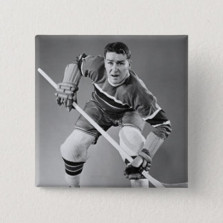 Hockey Defenseman 15 Cm Square Badge