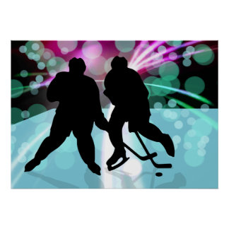 Hockey Duo Face Off Poster