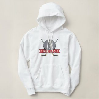 Hockey Embroidered Hoodie