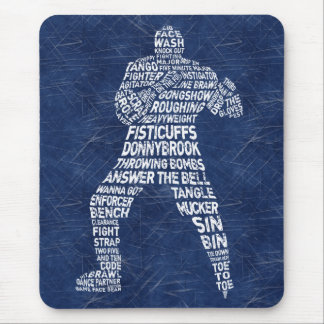 Hockey Enforcer Mousemat Mouse Pad