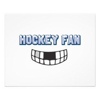 hockey fan missing teeth funny sports design flyer