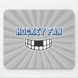 hockey fan missing teeth funny sports design mouse pad