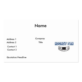 hockey fan missing teeth funny sports design pack of standard business cards