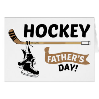 Hockey Father's Day Skates and Stick Greeting Card