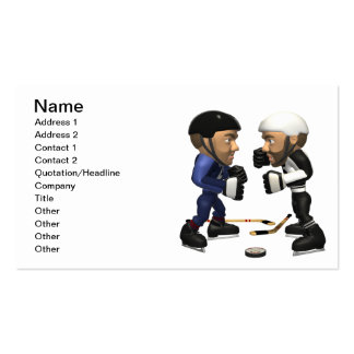Hockey Fight Pack Of Standard Business Cards