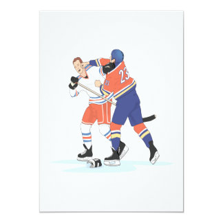 Hockey Fight 13 Cm X 18 Cm Invitation Card