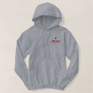 Hockey Fun Embroidered Hoodie