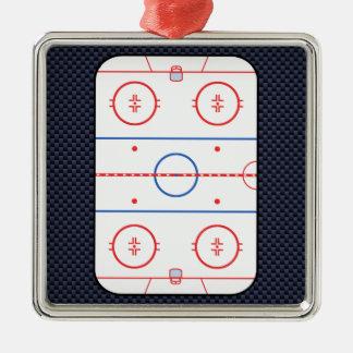 Hockey Game Companion Carbon Fiber Style Christmas Ornament