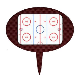 Hockey Game Companion Rink Diagram Cake Topper