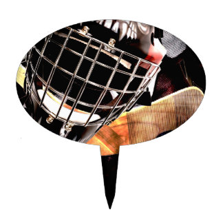 Hockey Gear Grunge Style Cake Toppers