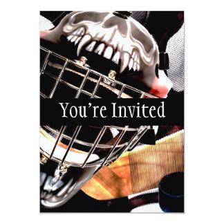 Hockey Gear Grunge Style Card
