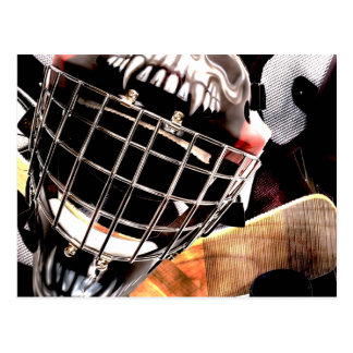 Hockey Gear Grunge Style Postcard
