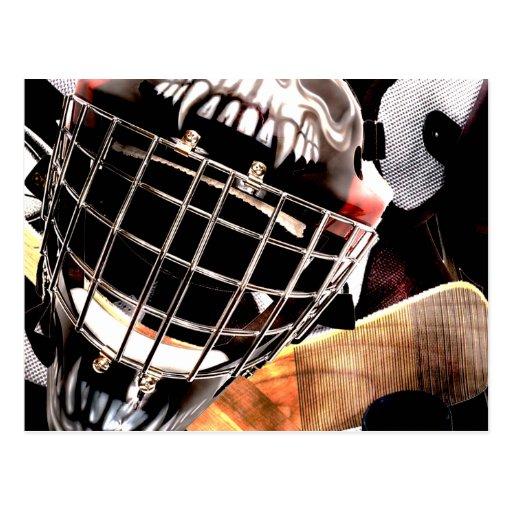 Hockey Gear Grunge Style Post Cards