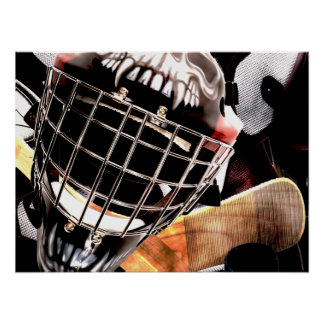 Hockey Gear Grunge Style Poster