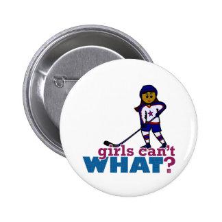 Hockey Girl 6 Cm Round Badge
