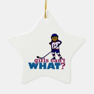 Hockey Girl Christmas Ornament