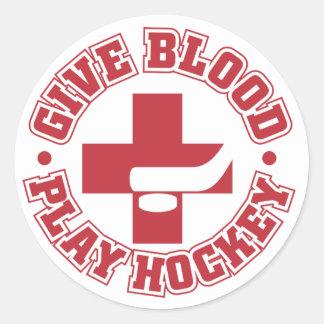Hockey Give Blood Sticker