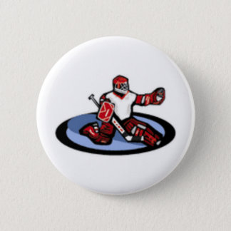 Hockey Goalie 6 Cm Round Badge