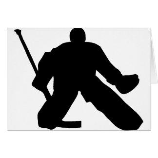 Hockey - Goalie Greeting Card