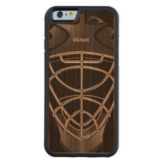 Hockey Goalie Helmet Carved® Cherry iPhone 6 Bumper Case