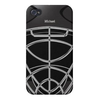 Hockey Goalie Helmet iPhone 4 Cases