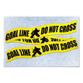 Hockey Goalie Line Do Not Cross Print Art Photo