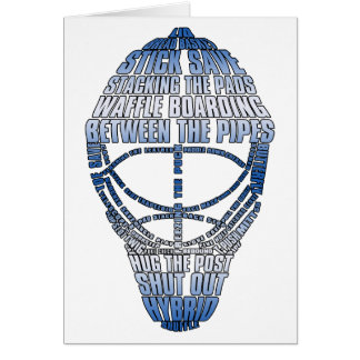 Hockey Goalie Mask Greeting Card