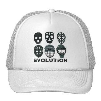 Hockey Goalie Mask Evolution Trucker Hats