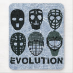 Hockey Goalie Mask Evolution Mousemats